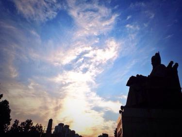 世宗大王と秋の空に想いを馳せて。