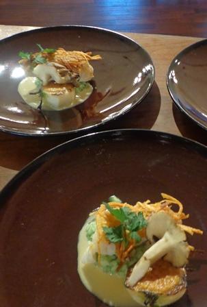 佐渡の真鱈とジャガイモのガレット