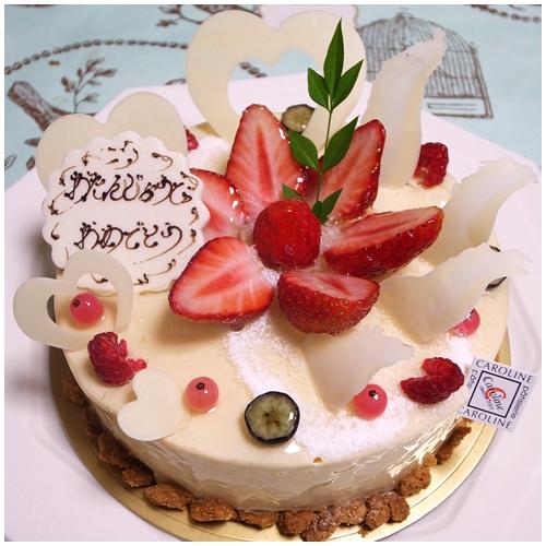 キャロリーヌ誕生ケーキ