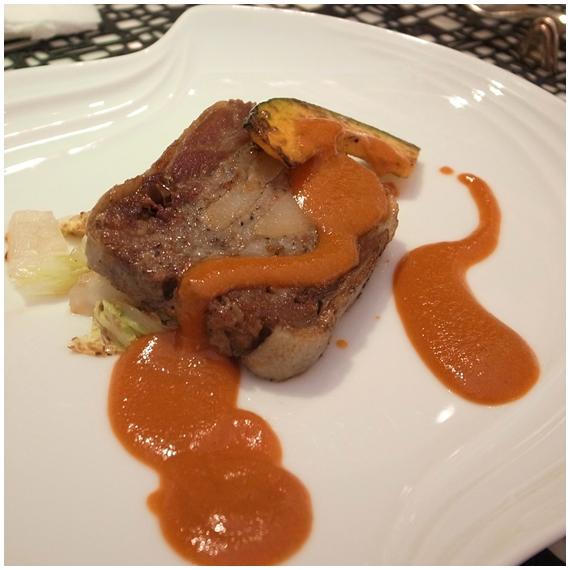 アヒル、前菜豚肉