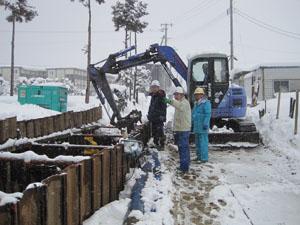 割町新田中央線道路改良舗装工事安全パトロール