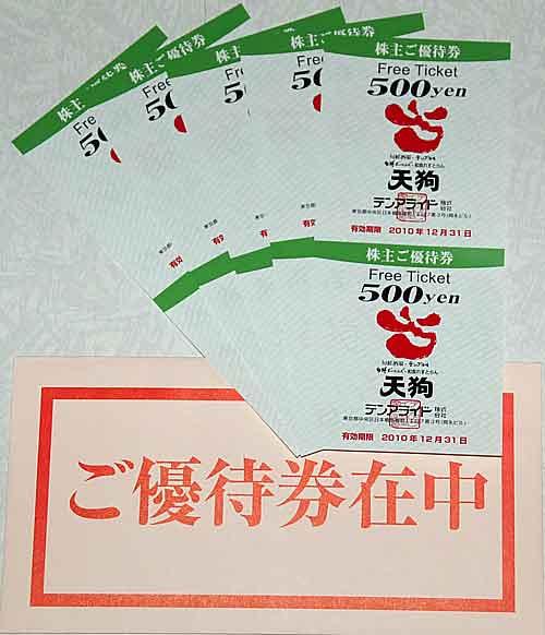 テンアライド株主優待2