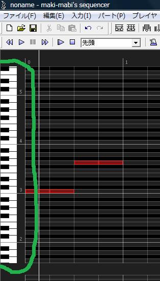 まきまびしーく、鍵盤