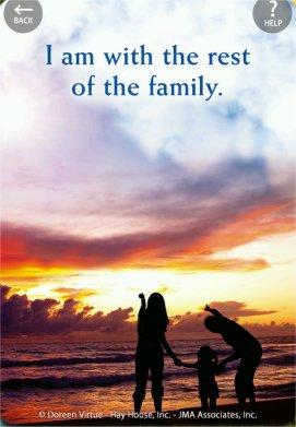 私はここで、家族と一緒にいます。