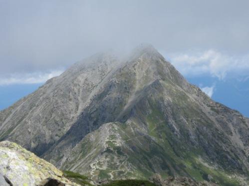 登った北岳^^