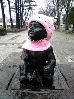 赤ちゃんの像