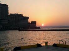 和倉の夕日