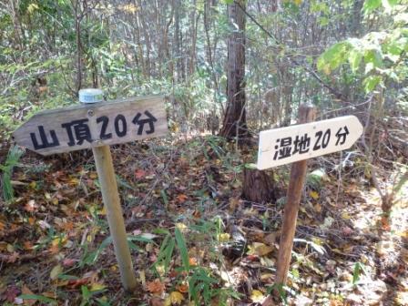 20121116 044吉本さんが付けて下さった道標