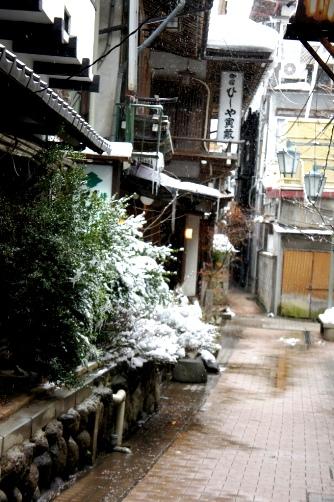 渋温泉の路地