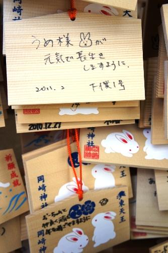 岡崎神社でうめ様健康祈願
