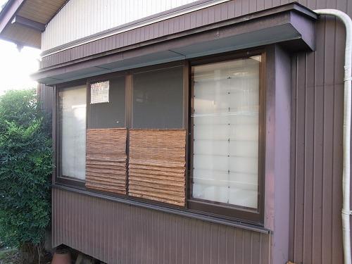 和室網戸のスダレ目隠し 屋外側