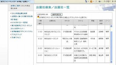 第25回東京ビジネス・サミット2011in神戸にはこんな企業