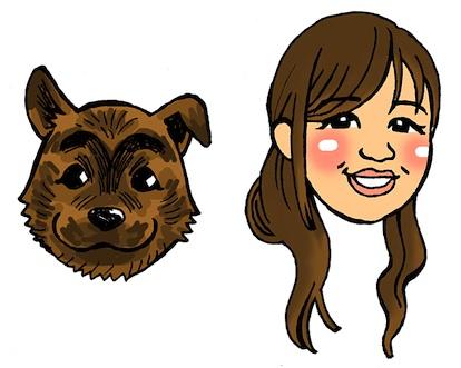 ヘリオススタッフ前原とヘリオス犬のムクです☆
