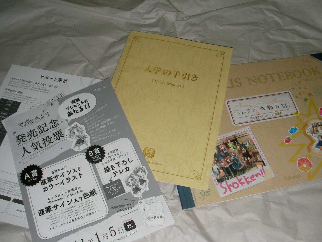 説明書&原画集