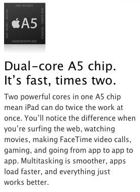 iPad2 A5 Dual chip