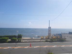 江ノ電から見た海