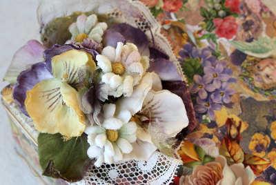 自作の布花
