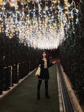 イルミトンネル写真