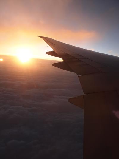 上空の夕焼け