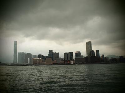 香港島から見た九龍島