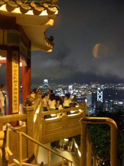 中国風の展望台