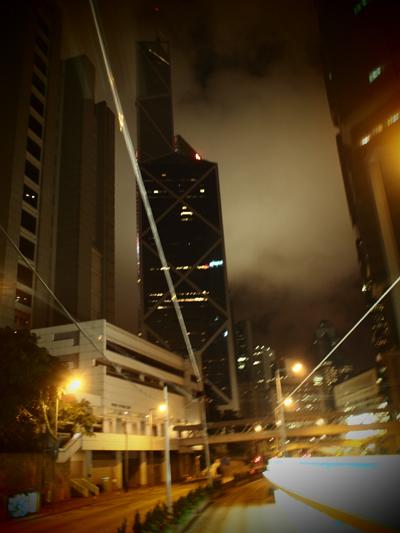 夜のトラムからの風景