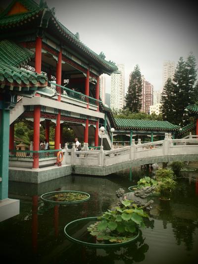 中国式の庭園