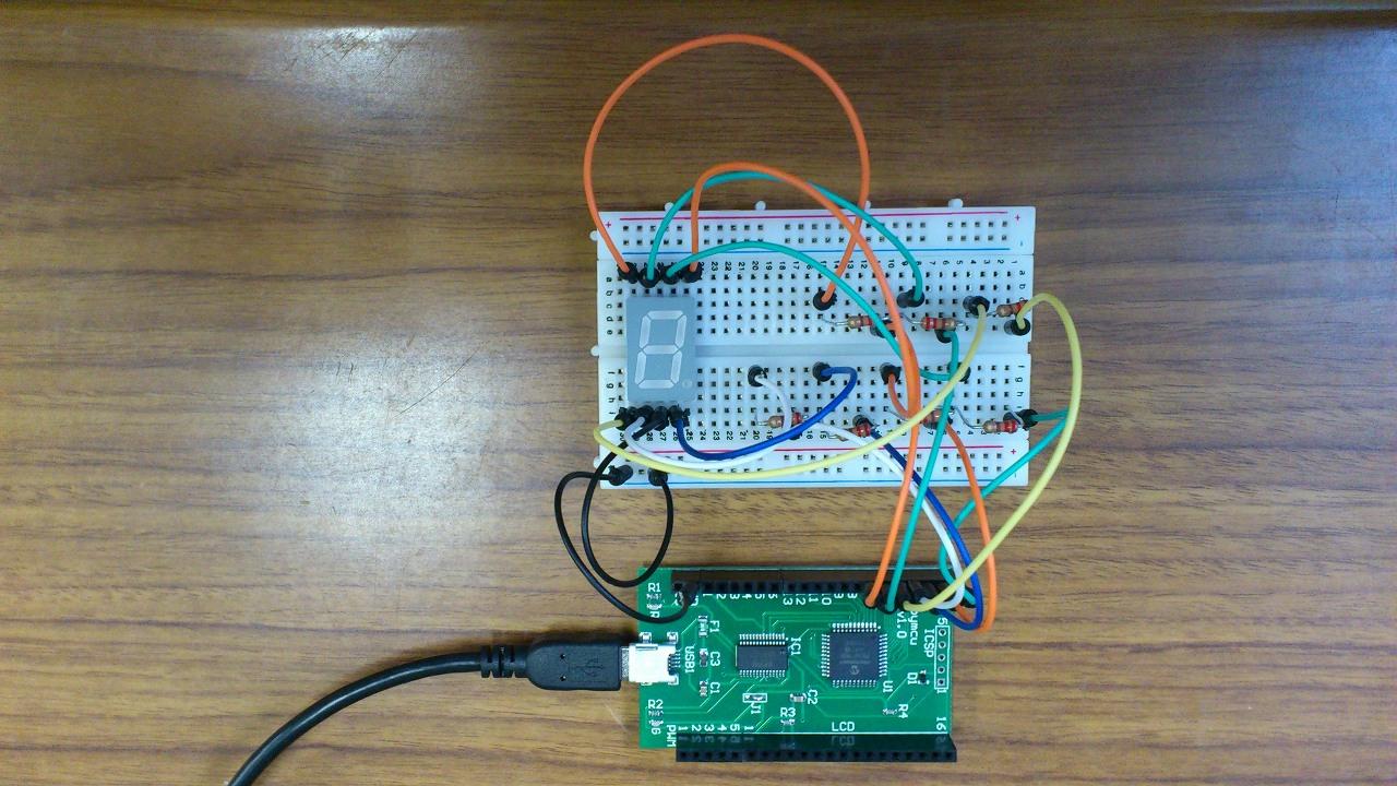 pyMCU:7LED回路実装
