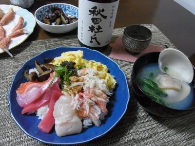 20110303 雛祭り ちらし寿司