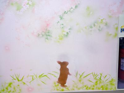 桜広場壁面5