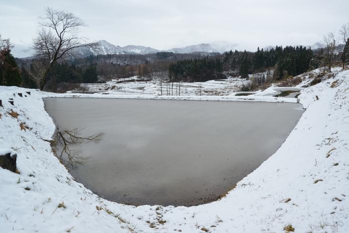 雪の棚田-2