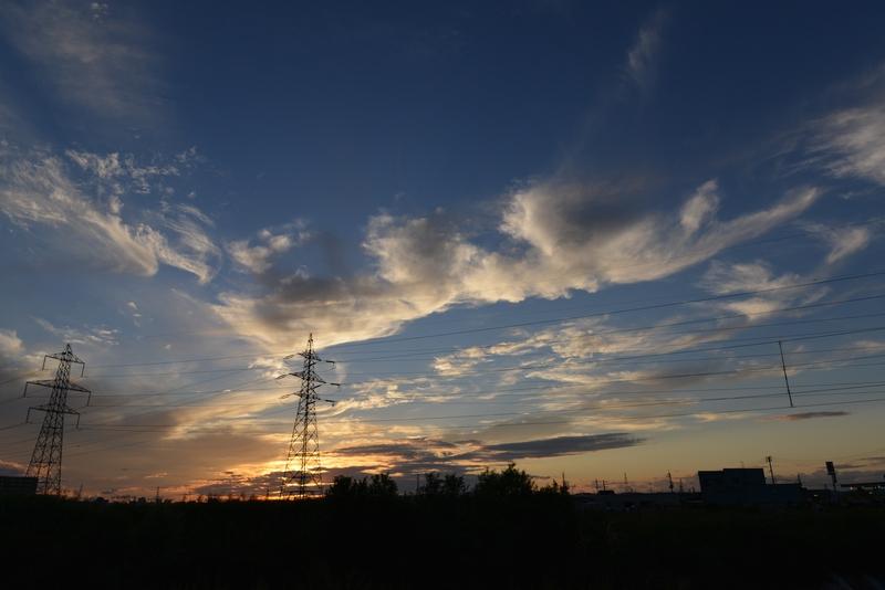 今日の夕焼け-1
