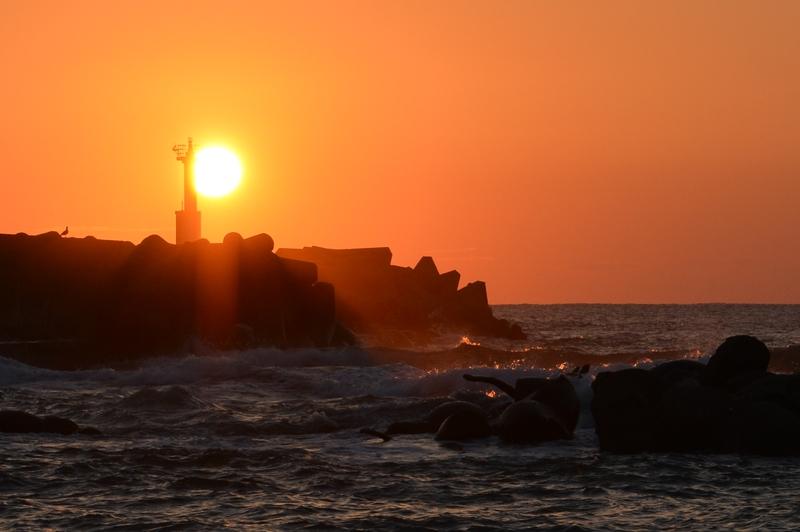 夕陽 灯台-2