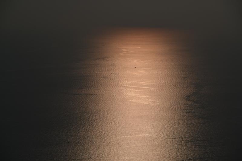今日の夕陽 海-1
