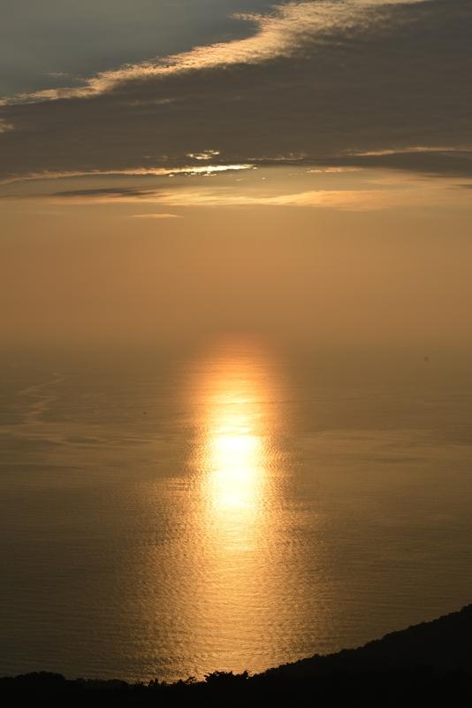 今日の夕陽 海-2