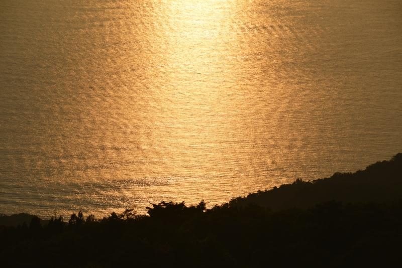 今日の夕陽 海-3