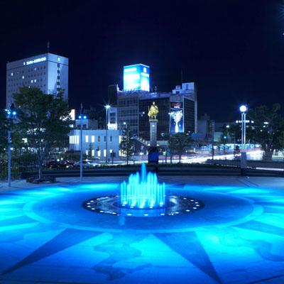 岐阜駅前噴水002