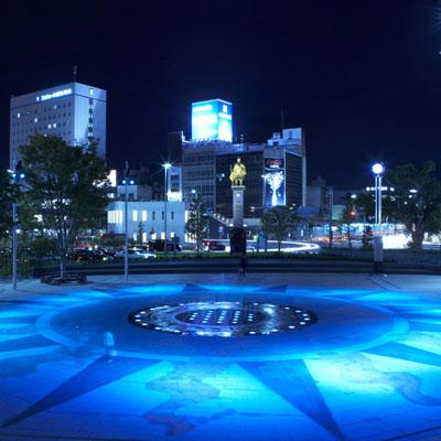 岐阜駅前噴水001