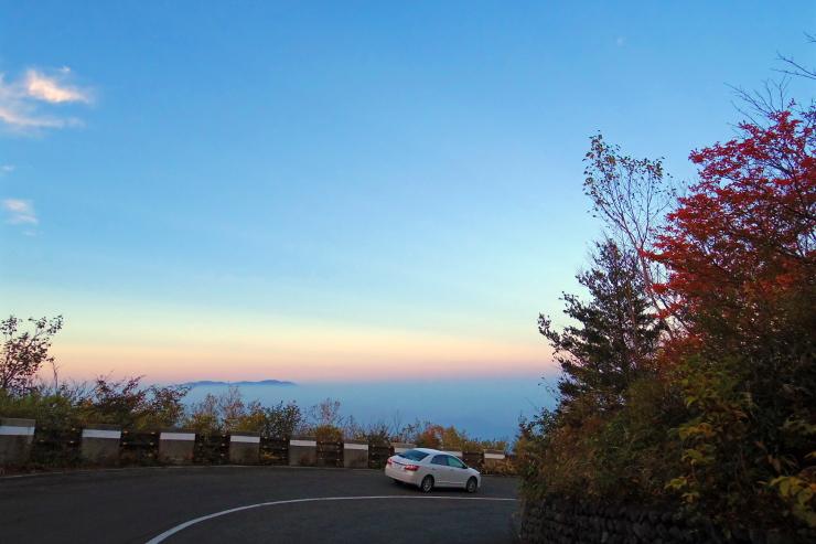 雲海の帰り道