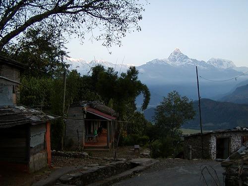 サランコット村からマチャプチャレ