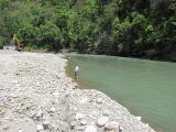 スンコシ川で釣り