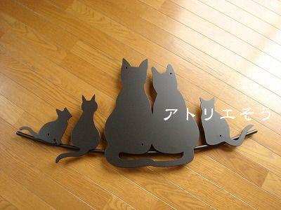 猫5匹妻飾り