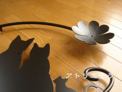 クローバー+猫4匹妻飾り