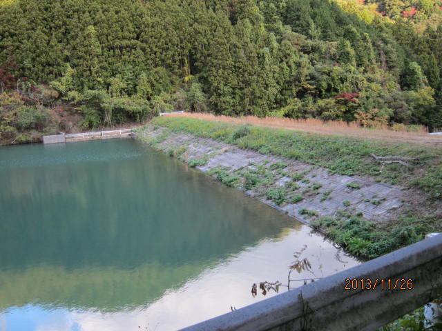 新堤堰の部分