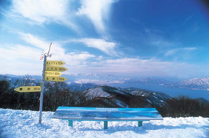 海が見える今庄365スキー場