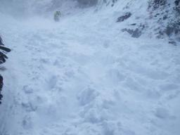 雪崩痕 デブリ