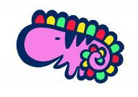 恐竜ピンク