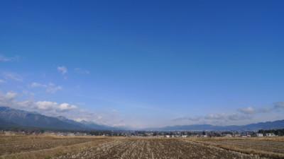 雪がない安曇野