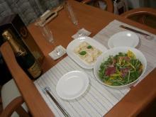 スローライフ日記 (ガンとの闘病日記はもうすぐ終わりにします)-結婚記念日の食卓