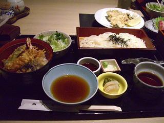 スローライフ日記-天濱の天丼セット